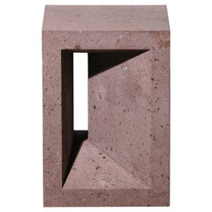 The Source Side Table No.1 in Pink Tuff by A Space