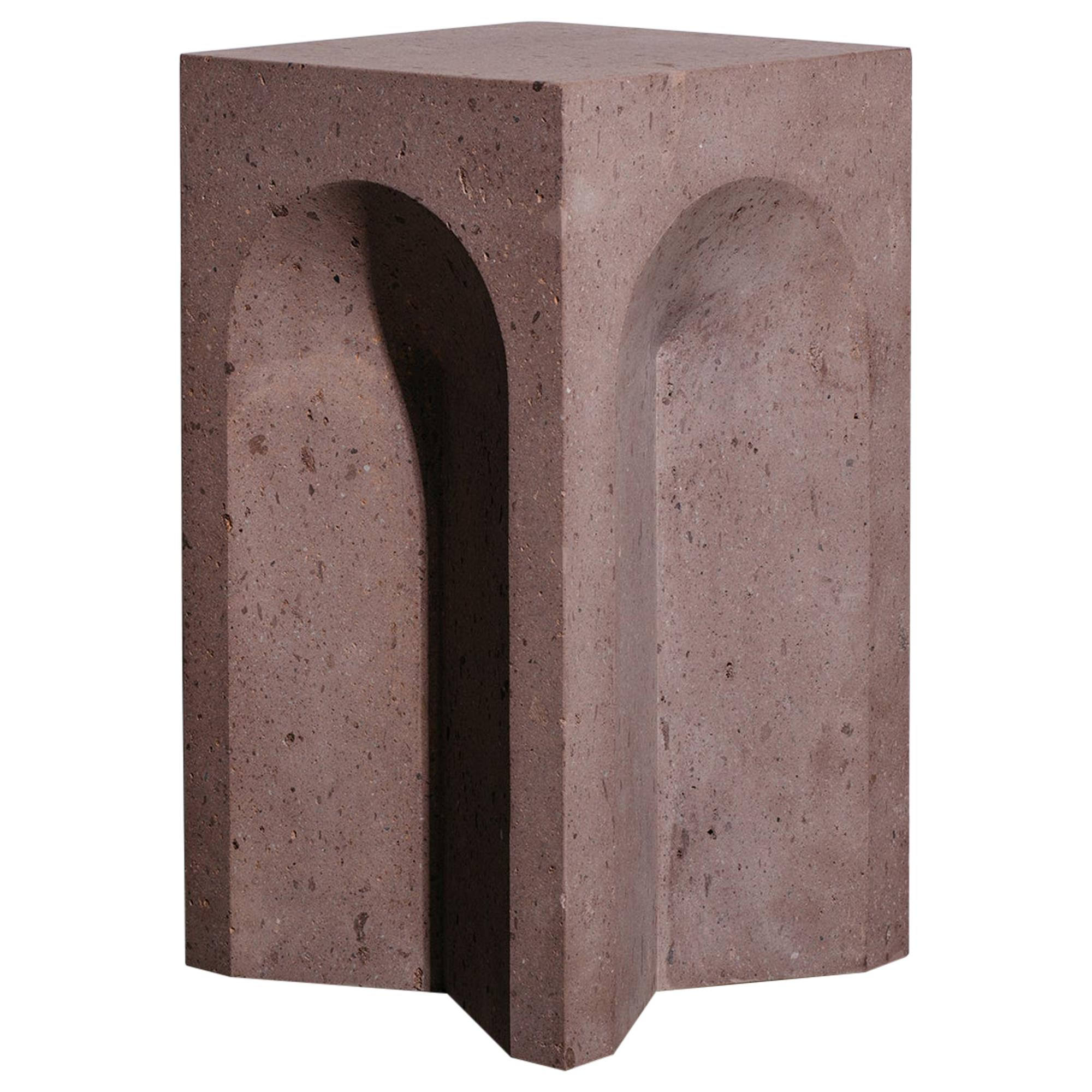 The Source Side Table No.2 in Pink Tuff