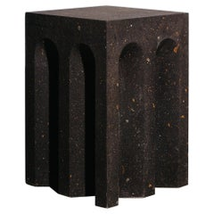 Source Side Table No.5 in Black Tuff