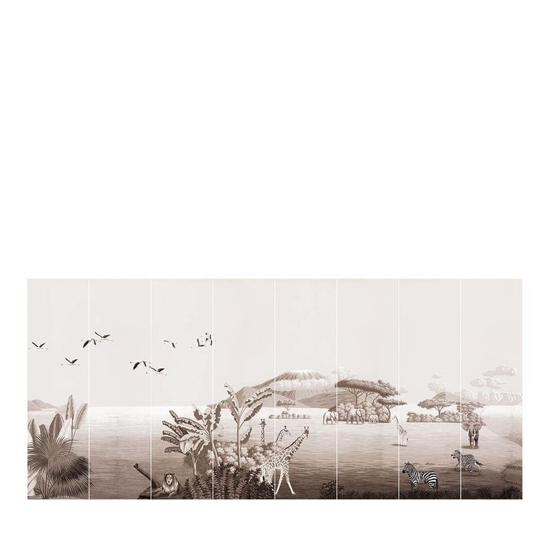 The Spice Route Brunaille Wallpaper In New Condition For Sale In Milan, IT