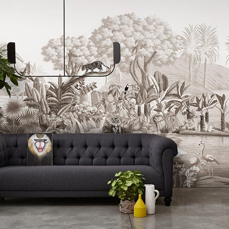 A marvelous and realistic representation in natural, vivid colors of the flora and fauna characterizing the spice sea route stretching from Japan to Europe, this wallpaper will elevate the look of a modern interior. Part of the Tour des Voyages