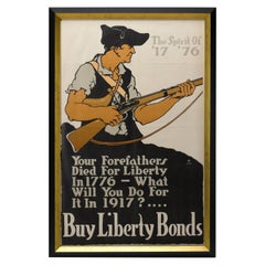"""The Spirit of 1776, Buy Liberty Loans"" Vintage WWI Poster, circa 1917"