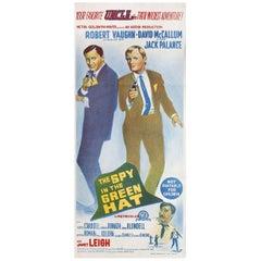 """The Spy in the Green Hat"" 1967 Australian Daybill Film Poster"