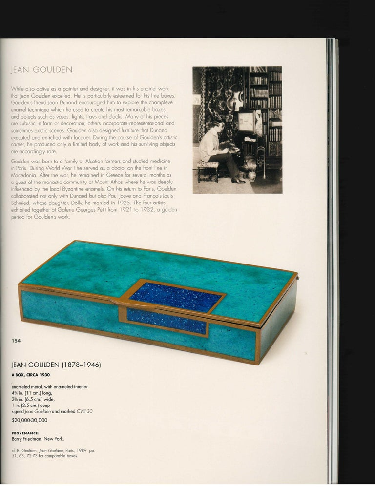 The Steven a Greenberg Collection - Masterpieces of French Art Deco, 2012 Sale For Sale 7