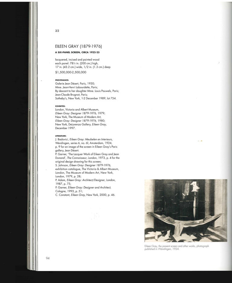 Paper The Steven a Greenberg Collection - Masterpieces of French Art Deco, 2012 Sale For Sale