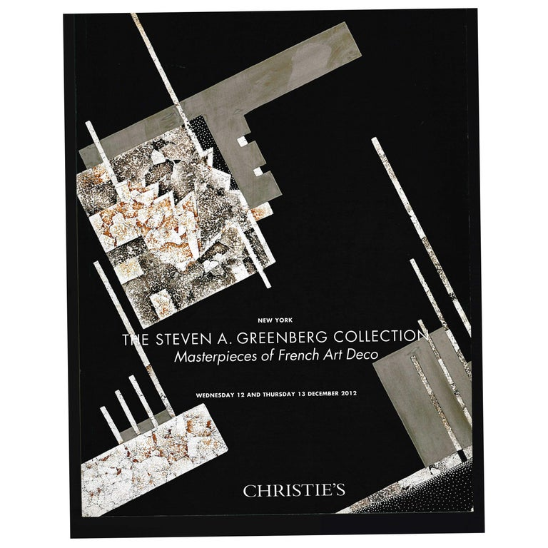 The Steven a Greenberg Collection - Masterpieces of French Art Deco, 2012 Sale For Sale
