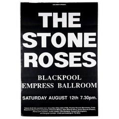 The Stone Roses Original Vintage Concert Poster, Blackpool, 1989