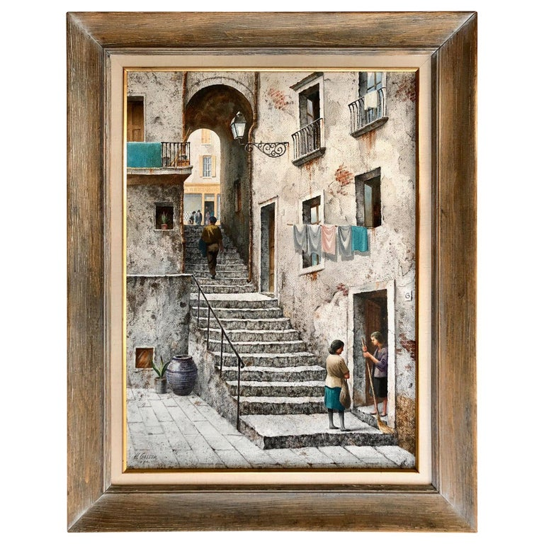 """""""The Stone Steps, Italy"""" by Henry Martin Gasser For Sale"""
