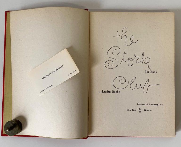 Mid-Century Modern The Stork Club Bar Book For Sale