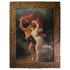 """""""The Storm"""" 'La Tempete' Copy of Oil Painting by Pierre Auguste Carved Frame"""