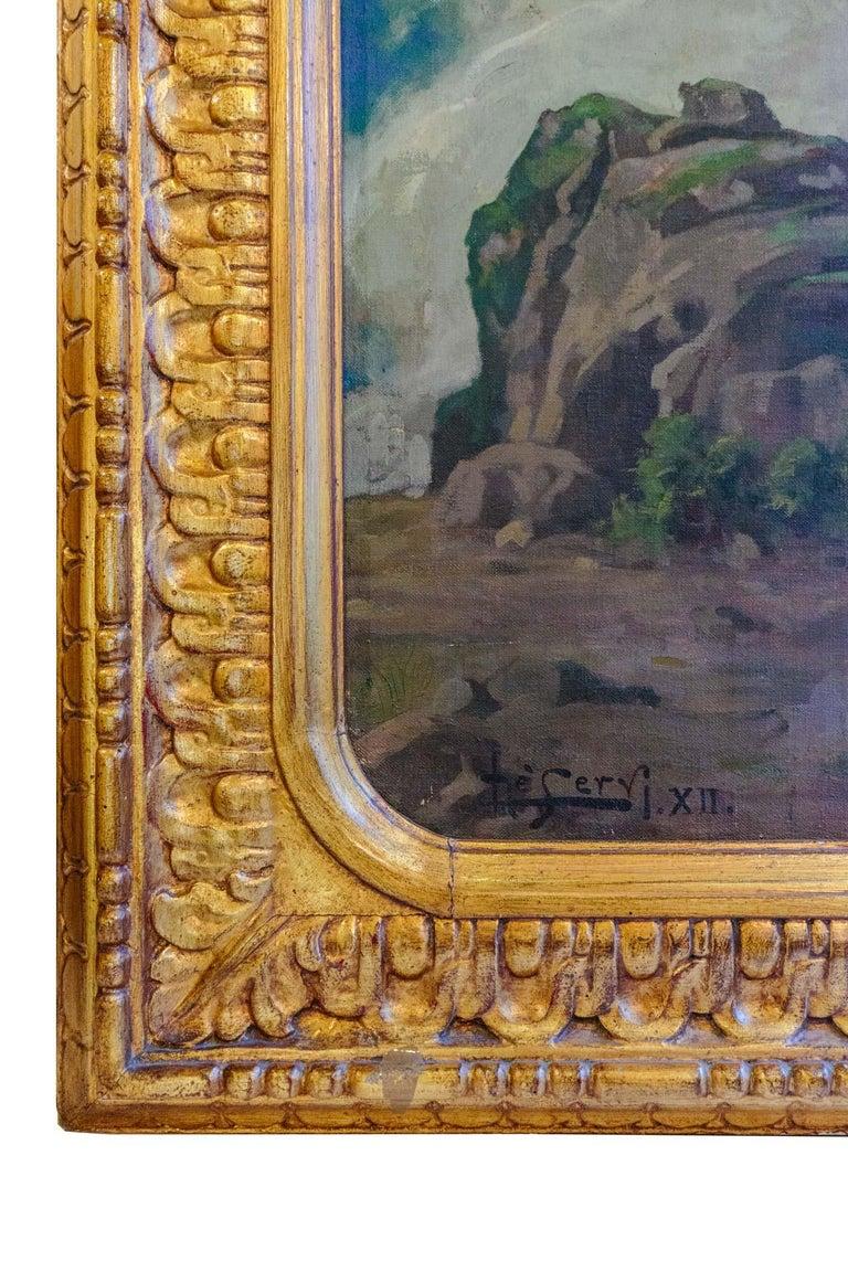 1930 Struggle of the Centaurs by Luigi De Servi Canvas Oil Painting Gold Frame For Sale 5