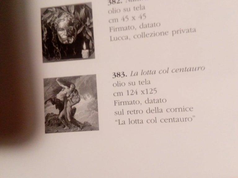 1930 Struggle of the Centaurs by Luigi De Servi Canvas Oil Painting Gold Frame For Sale 6