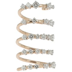 2.07 Carat Round Diamond Cocktail Rings GVS 18K Rose Gold Ring 29 Diamonds Ring