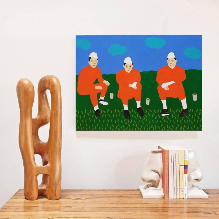 Acrylic on canvas by Alan Fears, 2018. 