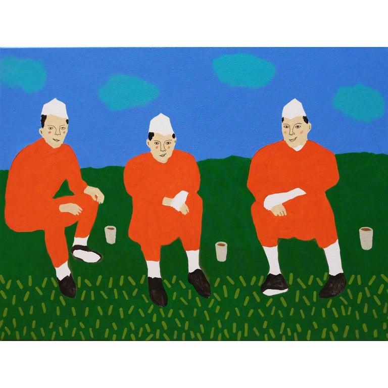 'The Tea Break' Portrait Painting by Alan Fears Pop Art