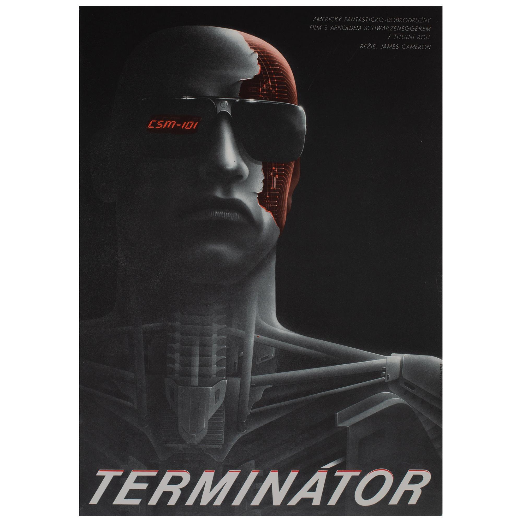 The Terminator 1984 Czech A3 Film Movie Poster, Pecak