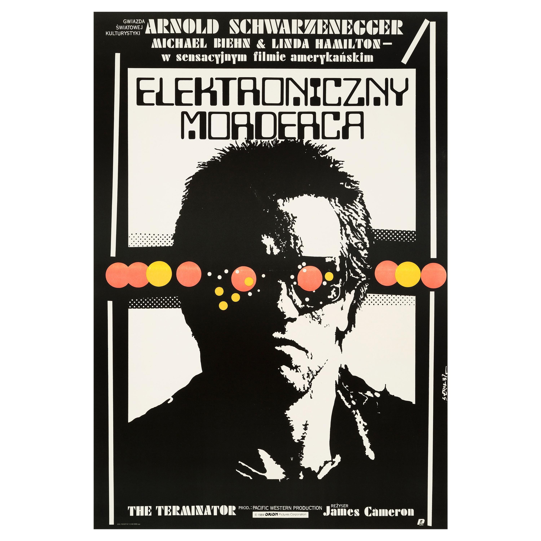 """""""The Terminator"""" Original Vintage Movie Poster, Polish, 1987"""