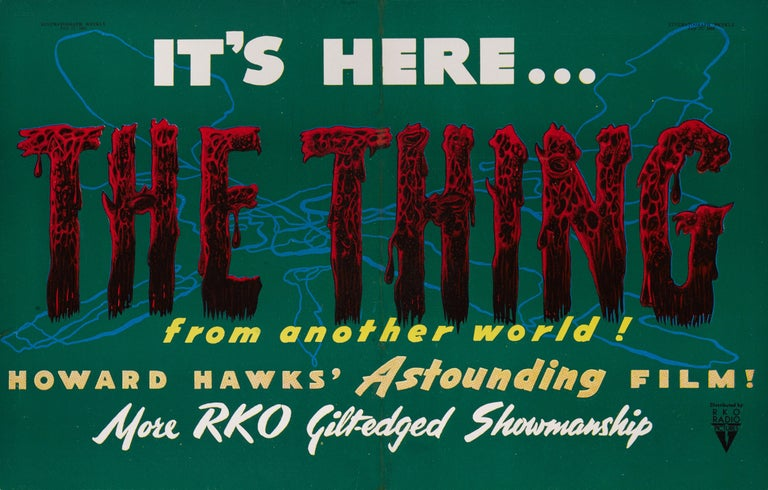 Original British trade advertisement for the 1951 Horror, Science Fiction film The Thing From Another World