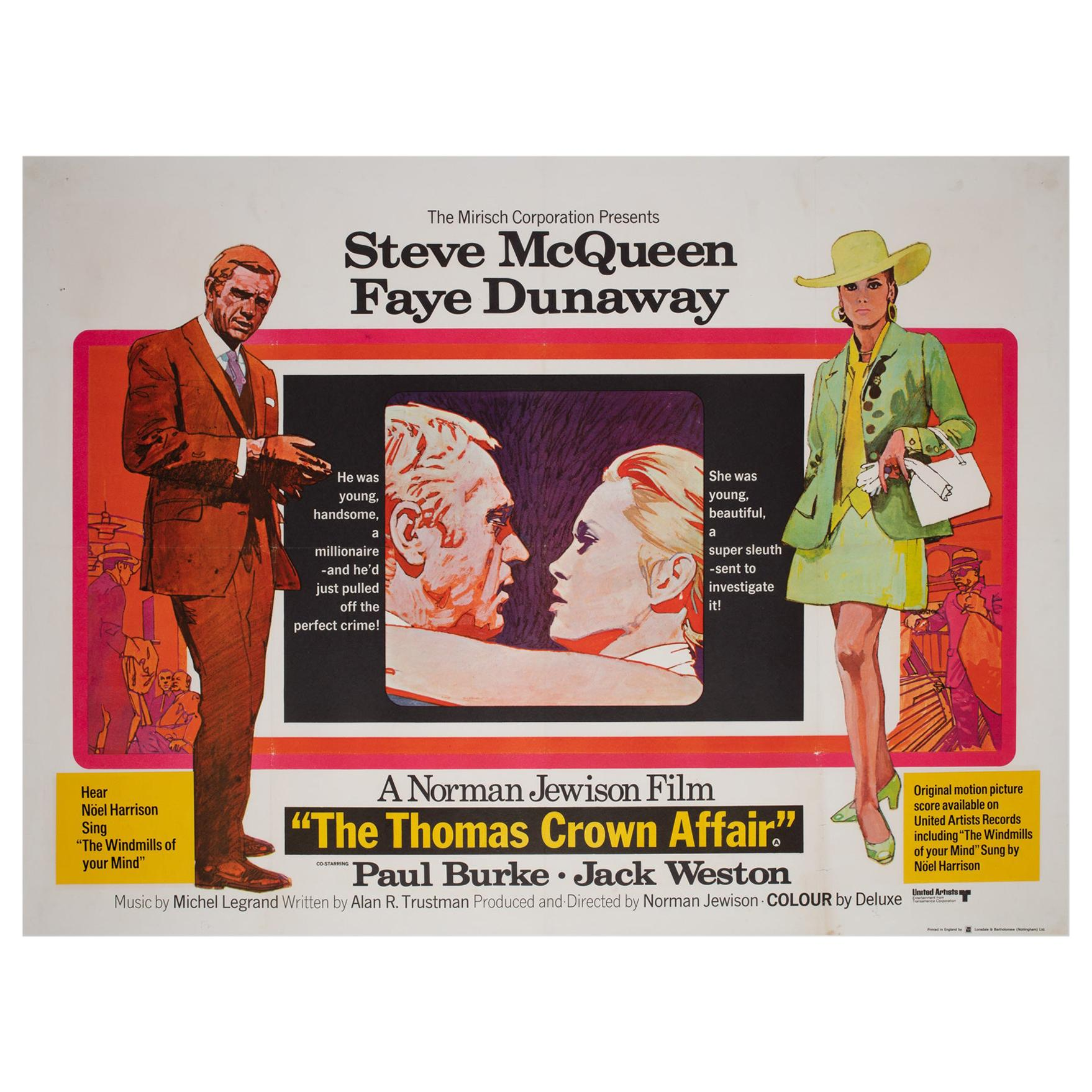 The Thomas Crown Affair 1968 UK Quad Film Movie Poster, Putzu