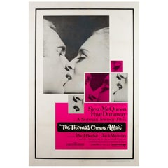 """The Thomas Crown Affair"", US Film Poster, 1968, Linen Backed"