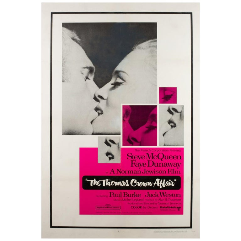 """The Thomas Crown Affair"", US Film Poster, 1968, Linen Backed For Sale"
