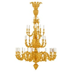 """""""The Three Graces"""" Louis XV French Antique Ormolu Chandelier"""