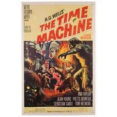 The Time Machine, US Film Movie Poster, 1960, Reynold Brown, Linen Backed