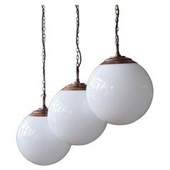Tomkin Globe Light in Patinated Copper