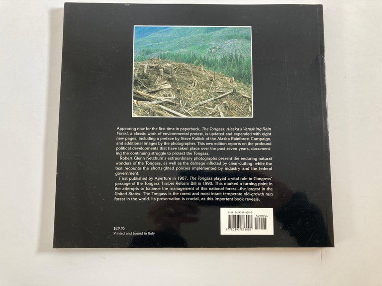 Unknown The Tongass Alaska's Vanishing Rain Forest Hardcover Book For Sale