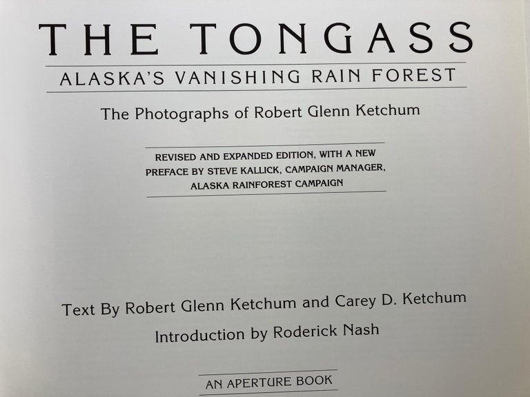 The Tongass Alaska's Vanishing Rain Forest Hardcover Book In Good Condition For Sale In North Hollywood, CA