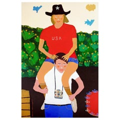 'The Tourists' Portrait Painting by Alan Fears Pop Art