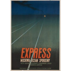 The Train Goes East R1953 Polish A1 Film Poster