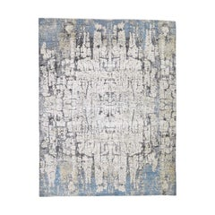 The Tree Bark Abstract Hand Knotted Soft Wool Oriental Rug