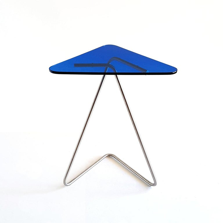 Triangle Side Table by Rita Kettaneh For Sale 3