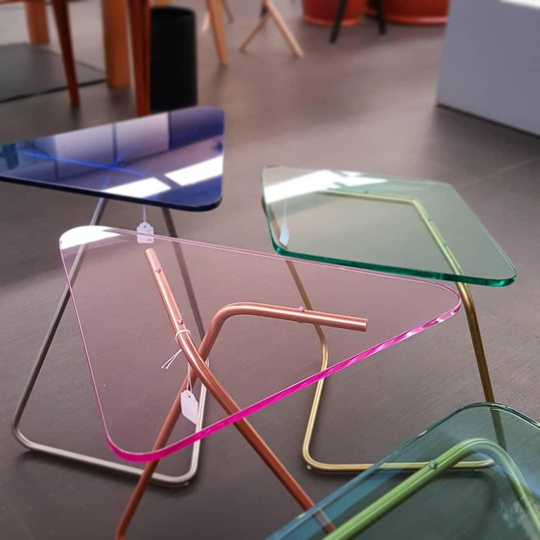 Triangle Side Table by Rita Kettaneh For Sale 5