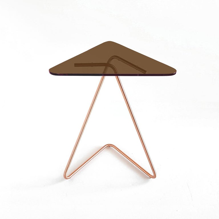 Modern Triangle Side Table by Rita Kettaneh For Sale