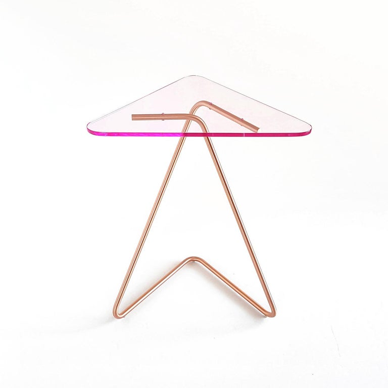 Lebanese Triangle Side Table by Rita Kettaneh For Sale
