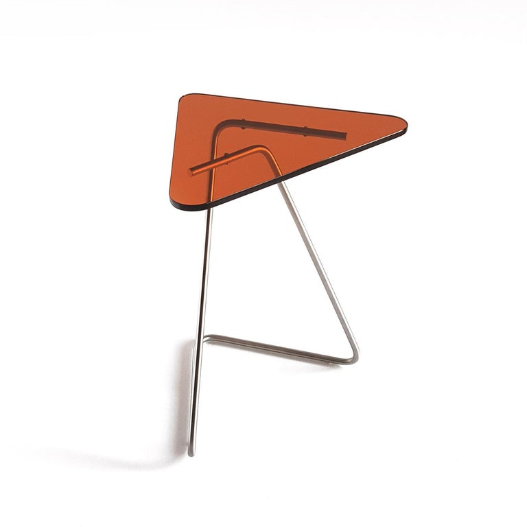 Triangle Side Table by Rita Kettaneh In New Condition For Sale In Geneve, CH