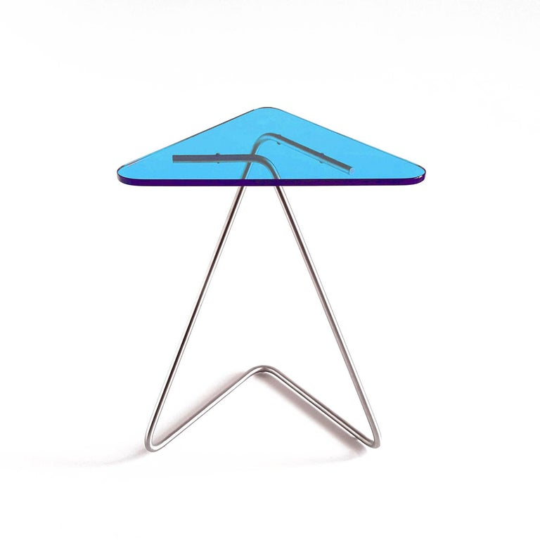 Triangle Side Table by Rita Kettaneh For Sale 1