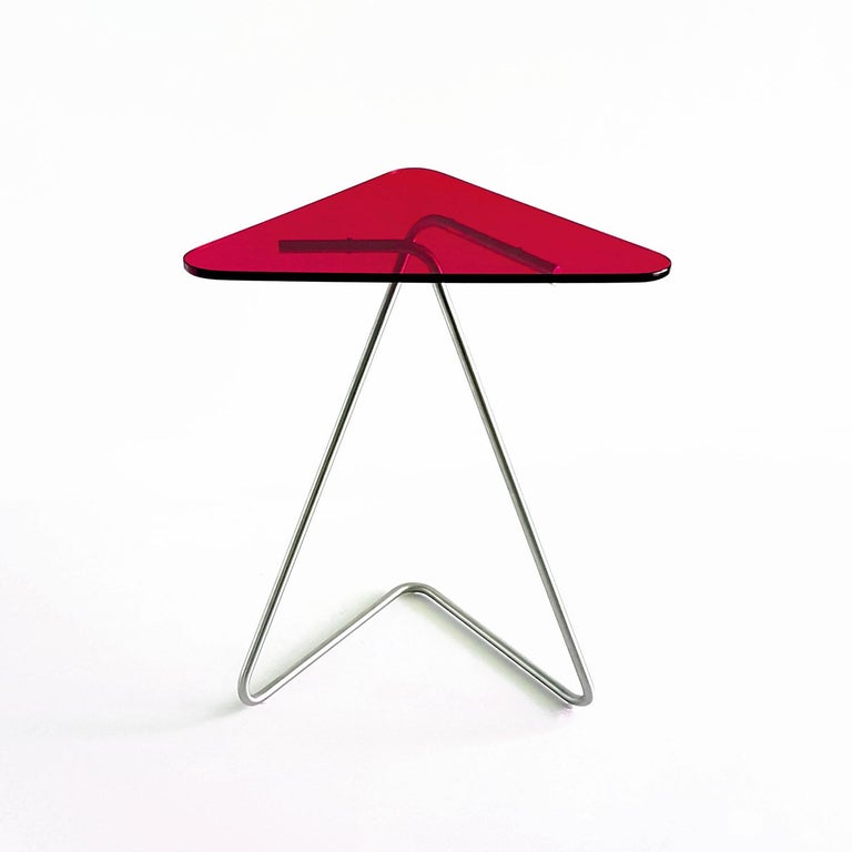 Triangle Side Table by Rita Kettaneh For Sale 2