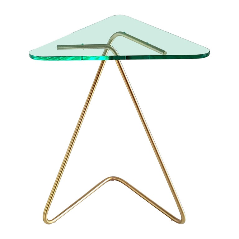 Triangle Side Table by Rita Kettaneh For Sale