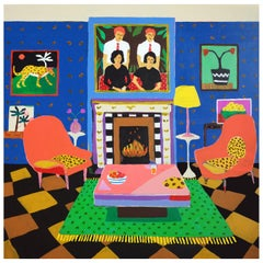 'The Trophy Room' Painting by Alan Fears Pop Art Interiors