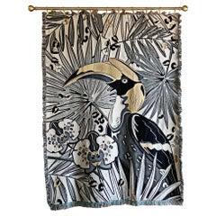 The Tropics Collection 'Hornbill' Woven Throw