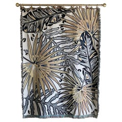 The Tropics Collection 'Palm Leaf' Woven Throw