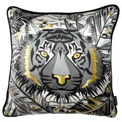 The Tropics Collection 'Tiger' Luxury Silk Cushion