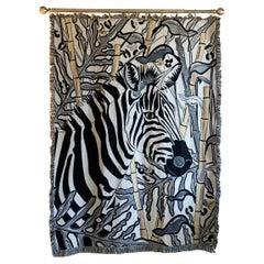 The Tropics Collection 'Zebra' Woven Throw