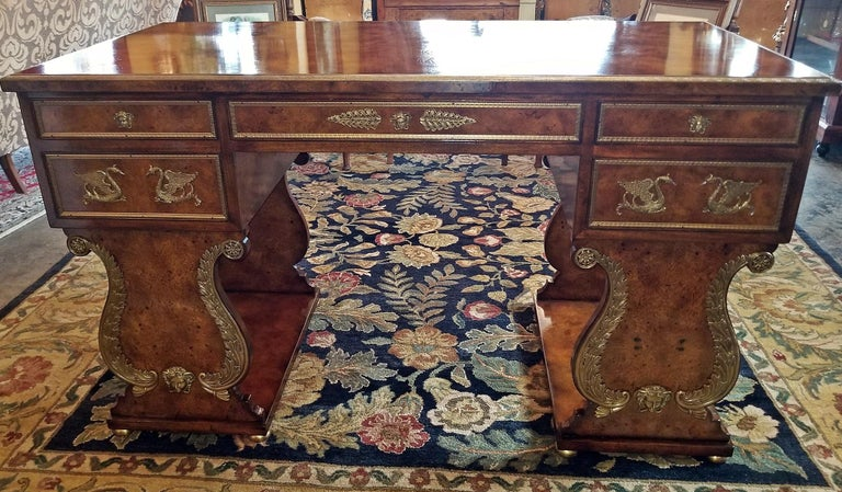 Tsar Desk Replica by Theodore Alexander For Sale 4