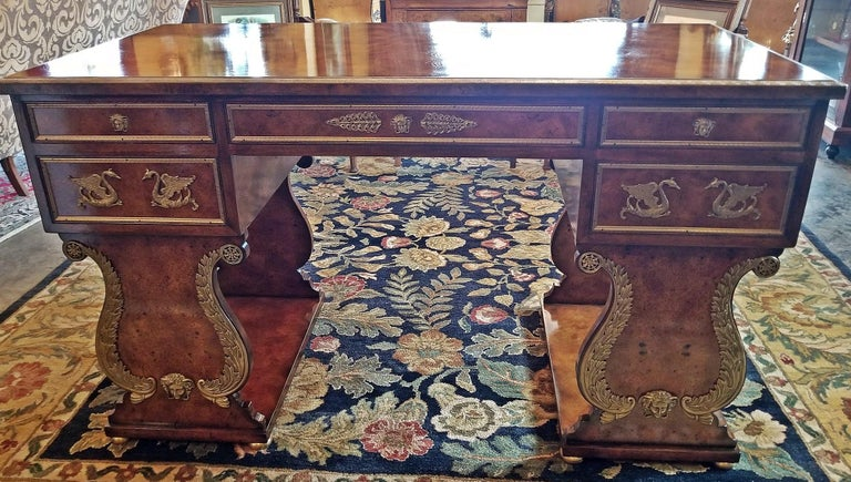 Tsar Desk Replica by Theodore Alexander For Sale 5
