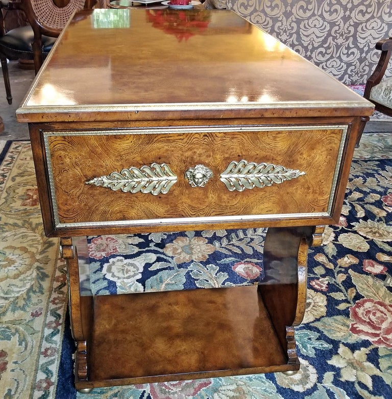 Tsar Desk Replica by Theodore Alexander For Sale 6