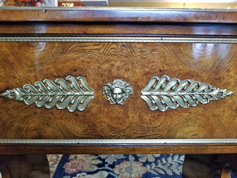 Tsar Desk Replica by Theodore Alexander For Sale 7